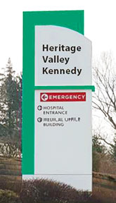 Heritage Valley Kennedy sign
