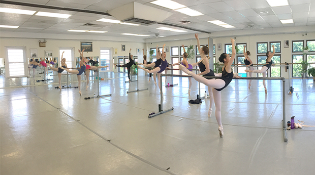 Bodiography students rehearsing in dance studio