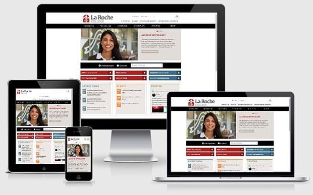 La Roche website displayed on multiple devices in responsive view formats